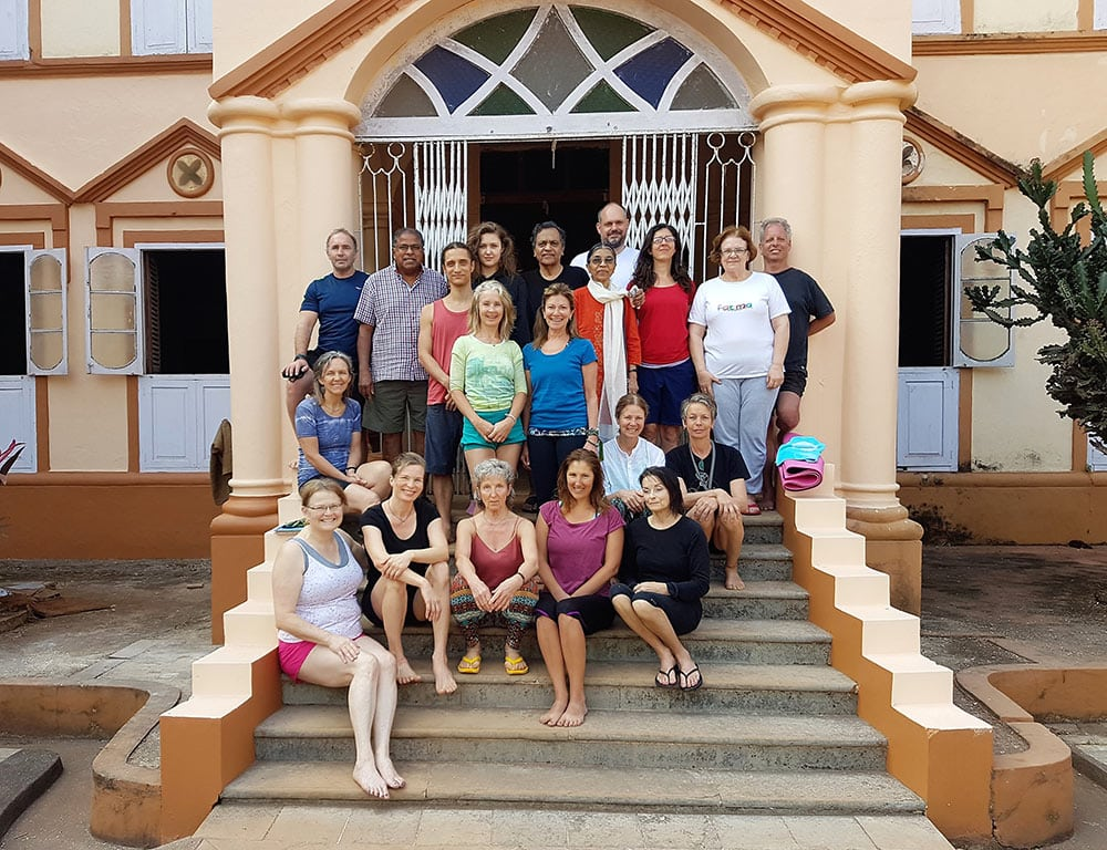The group in Goa - Yoga Retreat with Fr. Joe Pereira